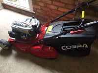 """Top of the range nearly new 18"""" Self propelled Cobra Lawnmower"""