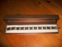 Mans stainless steel bracelet - boxed and as new - unwanted gift