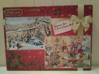 """TWO (2) """"CHRISTMAS"""" 1000 PIECES JIGSAW PUZZLES"""