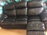 I am looking for a two seater Black leather sofa
