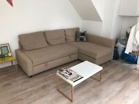 Cream barely used Ikea FRIHETEN Sofa, pulls out into bed with storage - £100