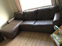 Sofa bed and ottoman