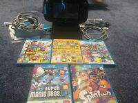 wii u 32gb complete with 5 good games