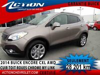 2014 BUICK ENCORE AWD LEATHER AWD CXL CUIR TOIT MY LINK