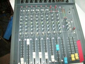mixer soundcraft quality F1 MODEL 14 IN TO 2 REDUCED PRICE PLUS DI BOX AND CABLE