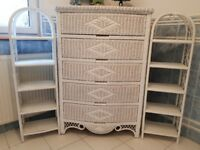 White wicker bathroom furniture