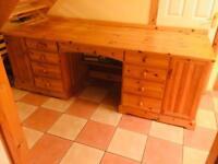 Hand made solid pine Office Desk unit/ Kitchen Dresser