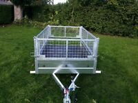 NEW Car trailers and mesh 6' x 4' 2,25 FIX PRICE £560 inc vat certificate for left-hand traffic
