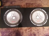 2 x 12inch Pioneer subs and kenwood amp