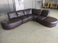 Leather L shape sofa •free w