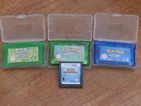 Pokemon Nintendo Gameboy Advance Games