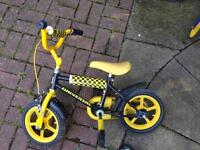 Child's yellow bike