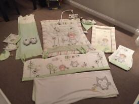 Olive, Henri and Friends Cot Bedding set & accessories