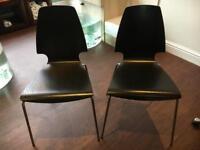 Black ikea chairs x2