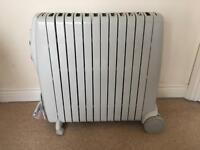 DeLonghi Rapido 3kW oil filled radiator safe heater