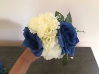 Beautiful blue and white flower girls bouquet