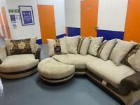 Corner sofa with cuddle chair