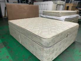 King divan bed with matress and brand new headboard