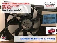 Mazda 3 BL R2AA 2009-2013 MZR-CD 2.2 Radiator Fan / AC Fan