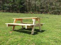Wooden Children's Picnic Bench