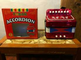 "Mini Accordion ""Tobar"" As New Never Used With Instructions and Exercises"