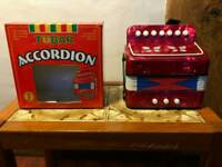 """Mini Accordion """"Tobar"""" As New Never Used With Instructions and Exercises"""
