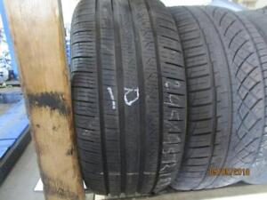 245/45R18 SINGLE ONLY USED PIRELLI A/S TIRE