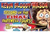 Two Kevin bloody Wilson tickets aberdeen