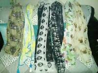 5 chiffon scarves