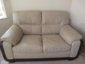 Lether double sofa very good condition