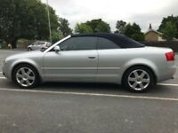 Absolutely immaculate silver Audi A4 convertible dropped in price to £2000!!