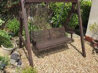 Large heavy duty garden seat swing in good condition