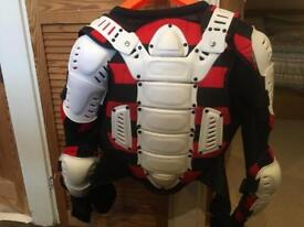 Motorcycle adult body armour