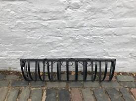 Iron flower window box