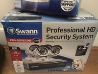Swann Professional HD Security System - 8 Channels Digital Video Recorder & 4 cameras
