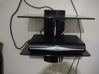 Two Tier Floating Glass Shelves for SKY Boxes DVD players Game Console