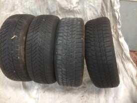 Mini run flat winter tyres 195-65-16 2xBridgstone 2xGoodyear