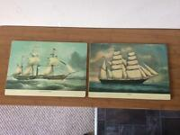 Table Mats with Sailing Ships Image