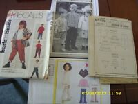 4 childrens sewing patterns
