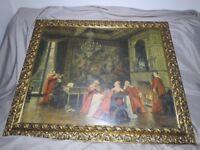 F.M.Bennett Duet painting print framed
