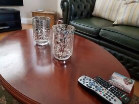2 X Stunning gold vases / candle holders