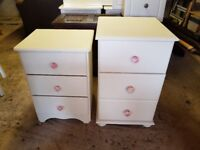 Cream/white bedside tables