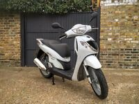 Honda SH125 Scooter in white, 2008 model, clean, well-maintained and runs excellently!