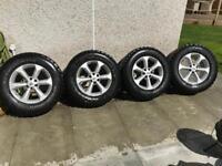 Nissan Navara alloys with bf Goodrich tyres