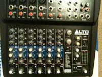 Alto 8 Channel Studio mixer with FX