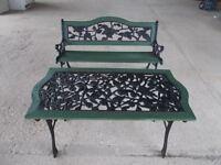Garden Bench and Table set £90 ONO