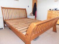 Solid, Reclaimed Pine, Kingsize Bed Frame