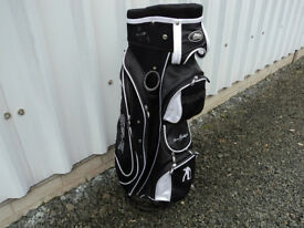 MD Golf Seve Ballesteros TROLLEY BAG Black and White 14 way with putter well