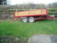 used car trailer twin wheel drop down side