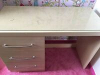 Computer/writing desk with draws